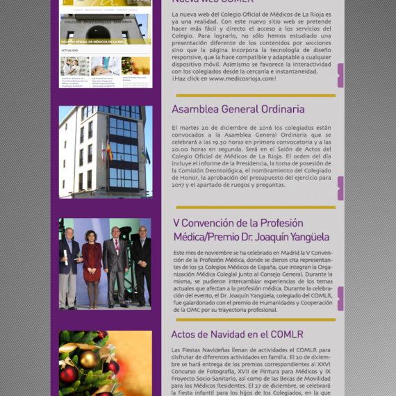 Newsletter noviembre del Colegio Oficial de Médicos de La Rioja