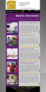 Newsletter de agosto del Colegio de Médicos de La Rioja